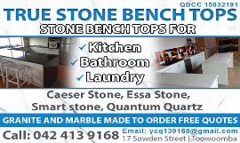 True Stone Bench Tops Toowoomba